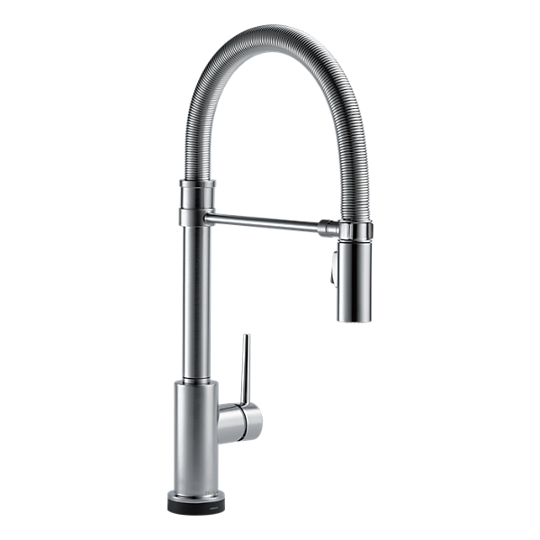 Single Handle Pull Down Spring Spout Kitchen Faucet With Touch2o Technology 9659t Ar Dst Delta Faucet Spring Spout Kitchen Faucet Kitchen Faucet Delta Trinsic