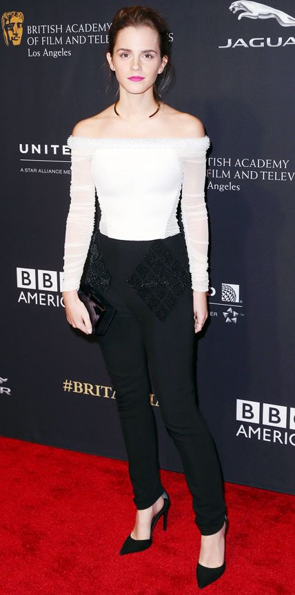 Look of the Day - October 31, 2014 - Emma Watson in Balenciaga from #InStyle