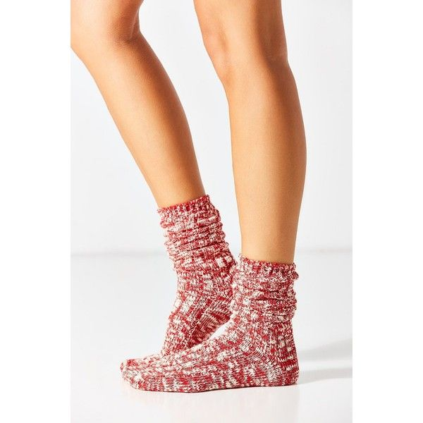 Marled Boot Sock ($14) ❤ liked on Polyvore featuring shoes, boots, urban outfitters shoes, urban outfitters boots and urban outfitters