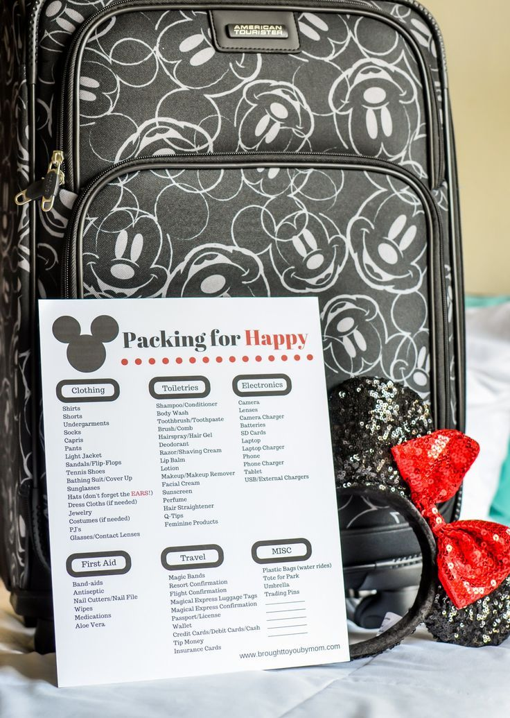 Simple Packing List for Walt Disney World - Brought to You by Mom