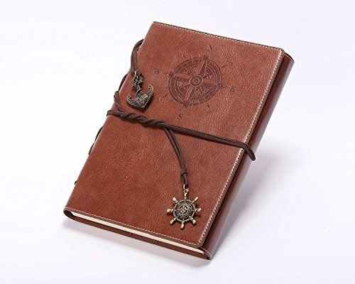 Valery Classic Leather Notebook Refillable Vintage Writing Journal - lined pages for writing