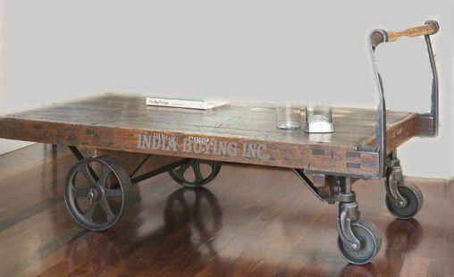 Mobili rio vintage industrial de m veis artes indianas decora o para casa materiais recuperados - Mobiliario vintage industrial ...