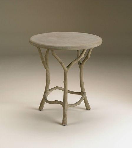 Currey And Company Faux Bois: Currey & Company 2373 Hidcote 22 X 20 Inch Portland Side Table