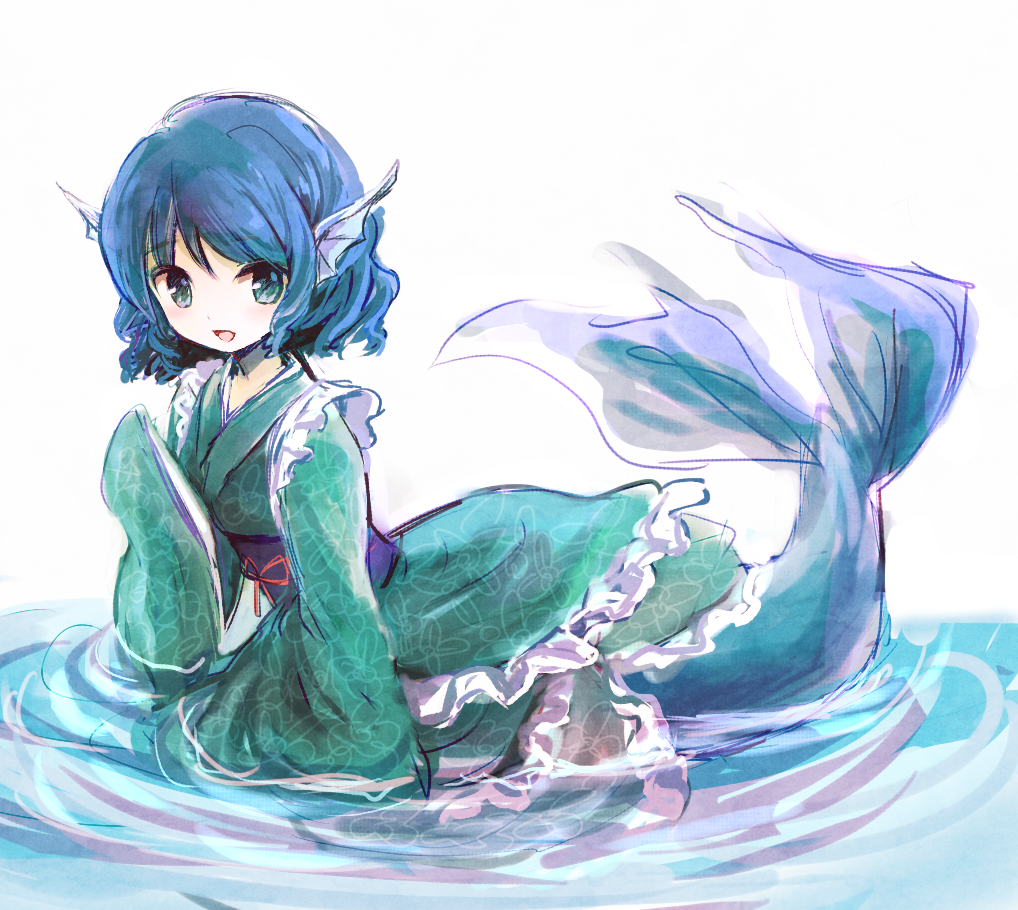Touhou Project Wakasagihime artwork by furorida in 2019