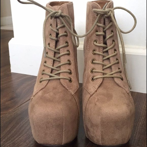NEW! NUDE lita booties Brand new never worn inspired lita booties Shoes Ankle Boots & Booties