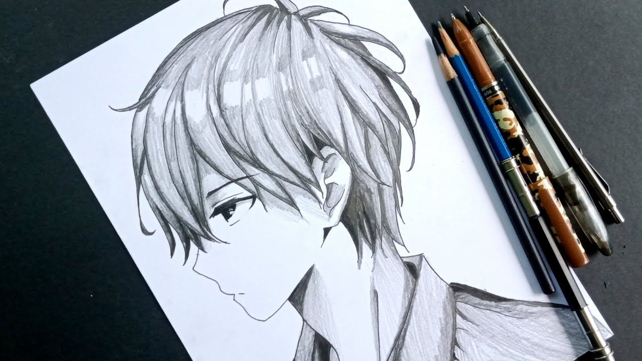 How To Draw Anime Boy In Side View Anime Drawing Tutorial For Beginners Anime Drawings Tutorials Anime Drawings Body Drawing Tutorial