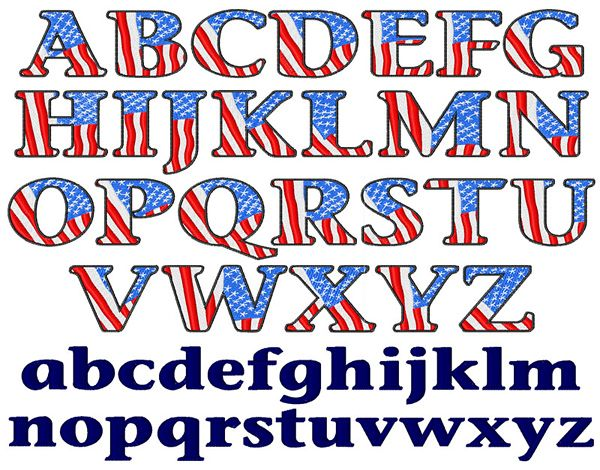 23d34a92e3c American Flag Font embroidery font!  5 off today for a limited time!