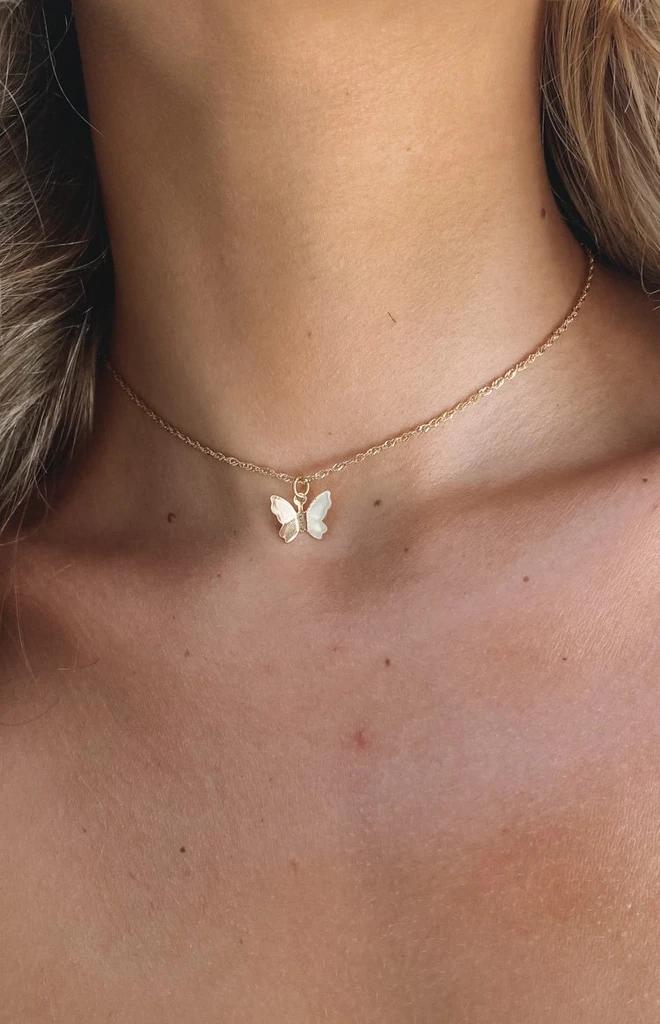 Eclat Flutter Butterfly Choker Gold – One Size