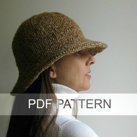 Branda Cloche Hat PDF Knitting Pattern, Bucket Hat, Instant Download ...