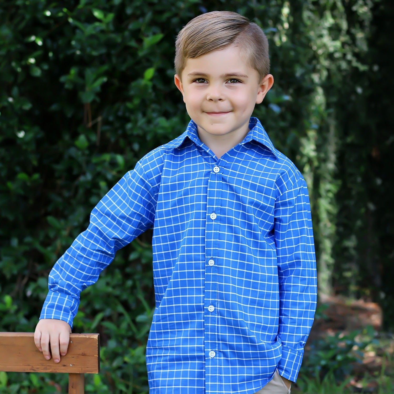 e9d5bfc18a Blue Check Button Up Shirt in 2019 | Asher Spring Summer 2019 ...