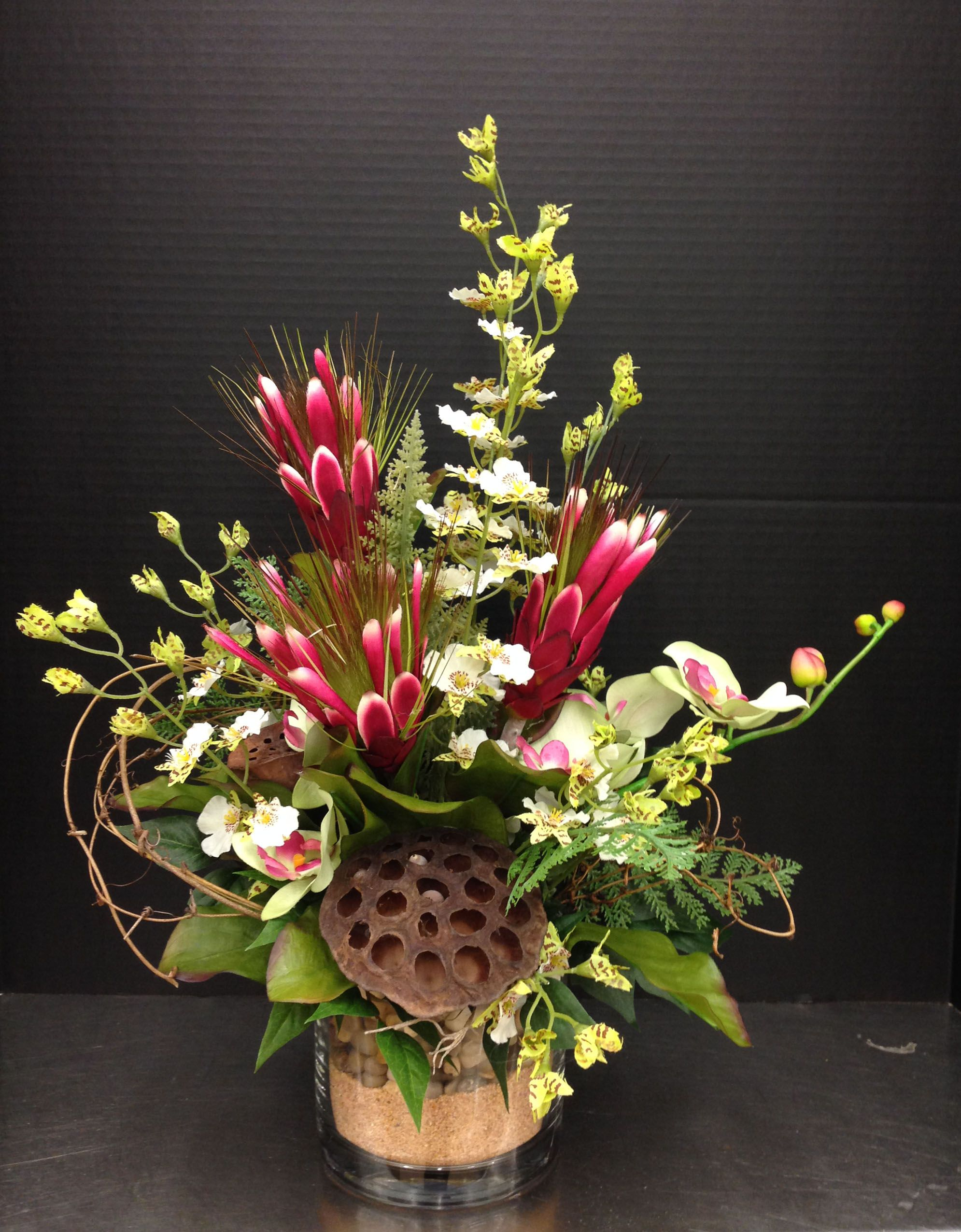 Proteas And White Dancing Orchids Ideas For Work Pinterest