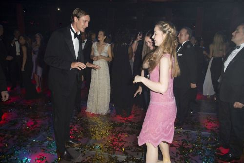 casiraghitrio:  Rose Ball 2015, Sporting Monte-Carlo, Monaco, March 28, 2015-Pierre Casiraghi dances with his little sister Princess Alexandra of Hanover