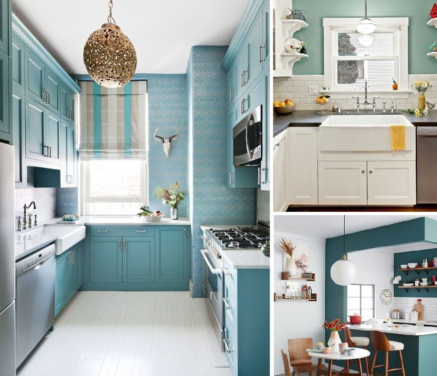 cocina azul | baños | Pinterest | Cocina azul, Azul y Cocinas