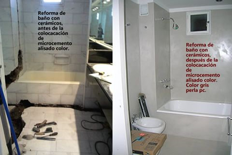 Ba os cocinas microcemento pisos y paredes microalisados - Microcemento sobre azulejos ...