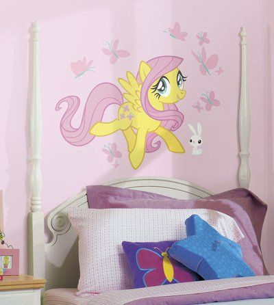 Awesome (18x40) My Little Pony   Fluttershy Peel And Stick Giant Wall Decal Poster  Revolution