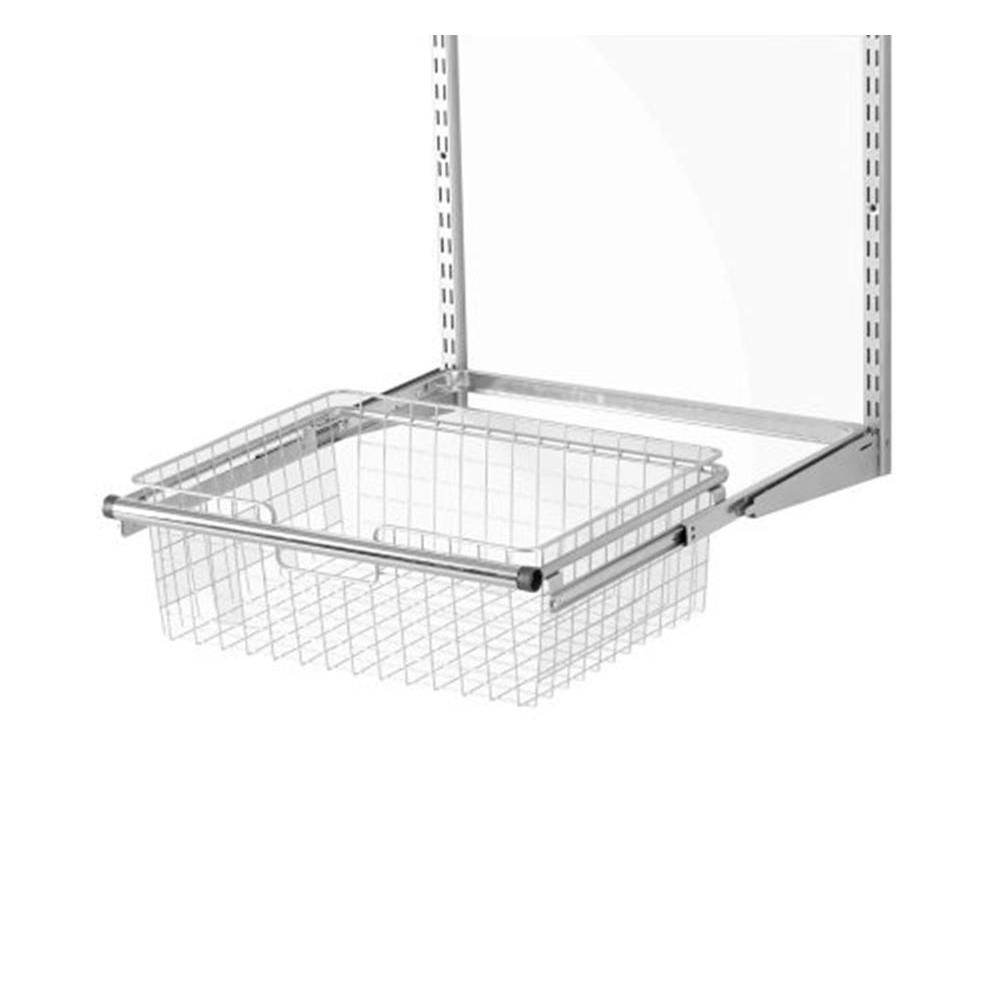Provide An Easy And Convenient Storage Space For Your Accessories By Using  This Rubbermaid Configurations Closet System Sliding Basket.