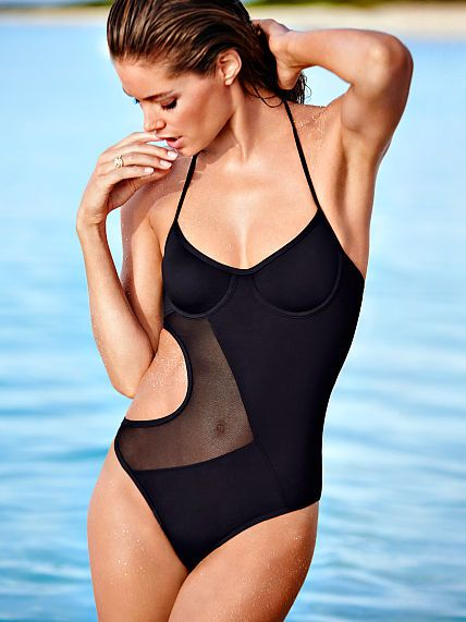 NEW Victorias Secret VS Black Tankini Gold Hardware S Small Beach Swimwear  NWT