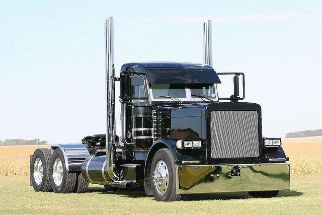 Black Peterbilt 379 Exhd Autos Post