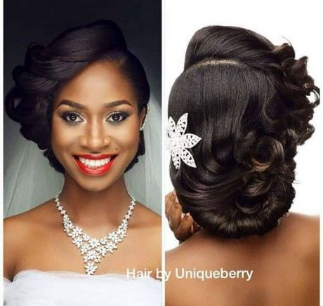 Coiffure mariage femme afro
