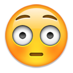 Flushed Face Emoji U 1f633 U E40d Emoji Faces Emoji Blushing Face