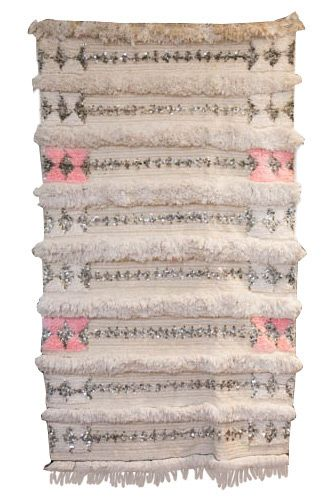 This Moroccan Wedding Blanket Not Only Features Glamorous Sequins But Also Very Coveted Pink Detailing Would Be Gorgeous In A S Room Or For Anyone Who