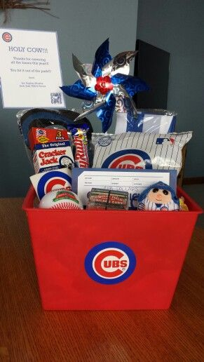 Cubs-themed gift basket