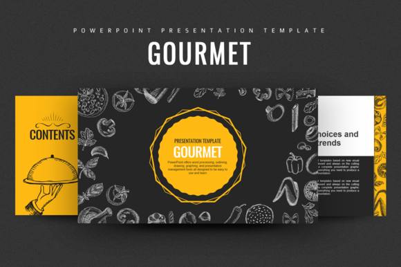 Gourmet Food PowerPoint by Good Pello on @creativemarket