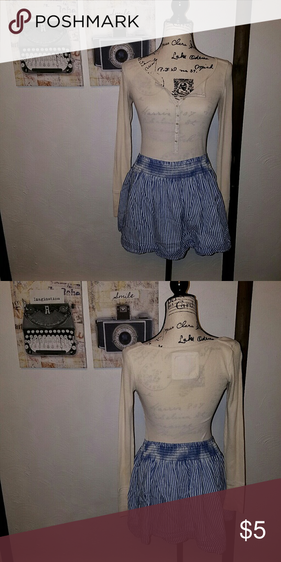 2101b6247f Hollister Blue Striped Mini Skirt Blue and white vertical striped mini  skirt from Hollister. The