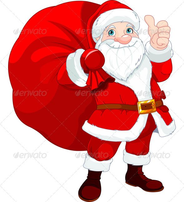 santa claus with a bag santa bag and font logo rh pinterest com