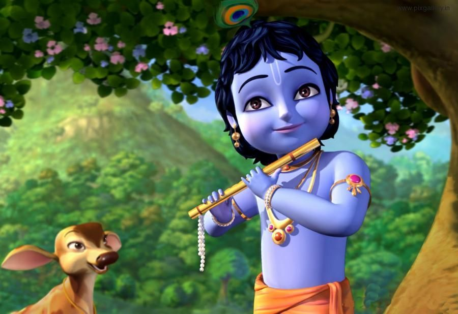 Shree Krishna Cartoon Hd Wallpaper Cartoons Krishna