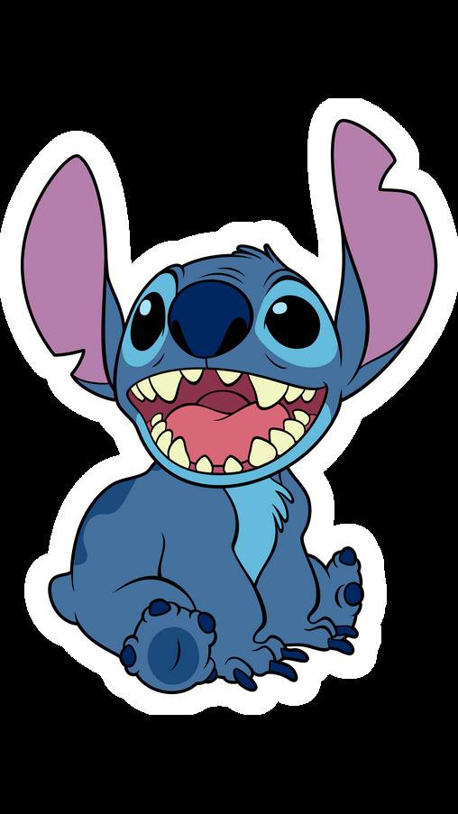 Smiling Stitch Sticker
