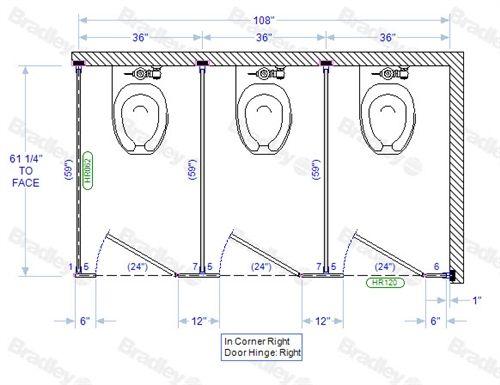 Bradley Toilet Partition 48 In Corner Compartments Phenolic 48W Best Bradley Bathroom Partitions Plans