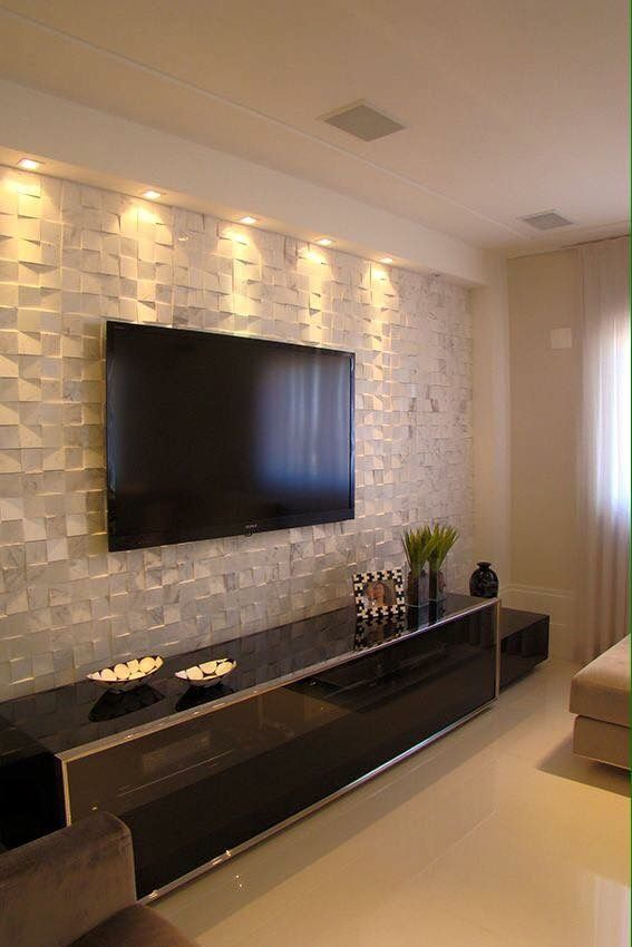 Pingl par cynthia laplant sur living room pinterest deco mur d co salon et canap s - Deco mur tv ...