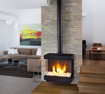 Great Contemporary Stand Alone Gas Fireplaces | All Products / Living Products /  Fireplace Products / Fireplaces