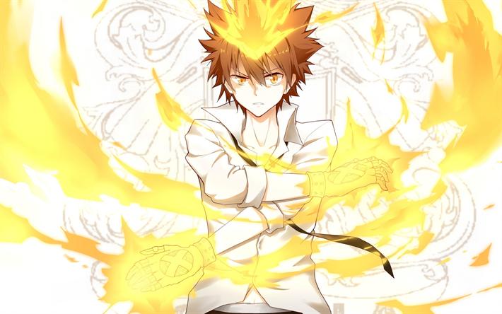 Download Wallpapers Tsunayoshi Sawada Protagonist Reborn Tsuna Manga Katekyo Hitman Reborn Reborn Katekyo Hitman Anime Hitman Reborn