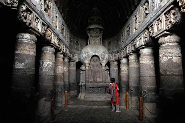 Cuevas de Ajanta, en el estado indio de Maharashtra.