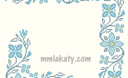 باترونات تطريز ايتامين ورود Cross Stitch Embroidery Tutorials Cross Stitch Borders