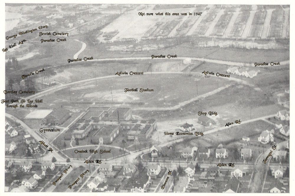 Arial View of Cradock 1947 Aerial view, Aerial, Views