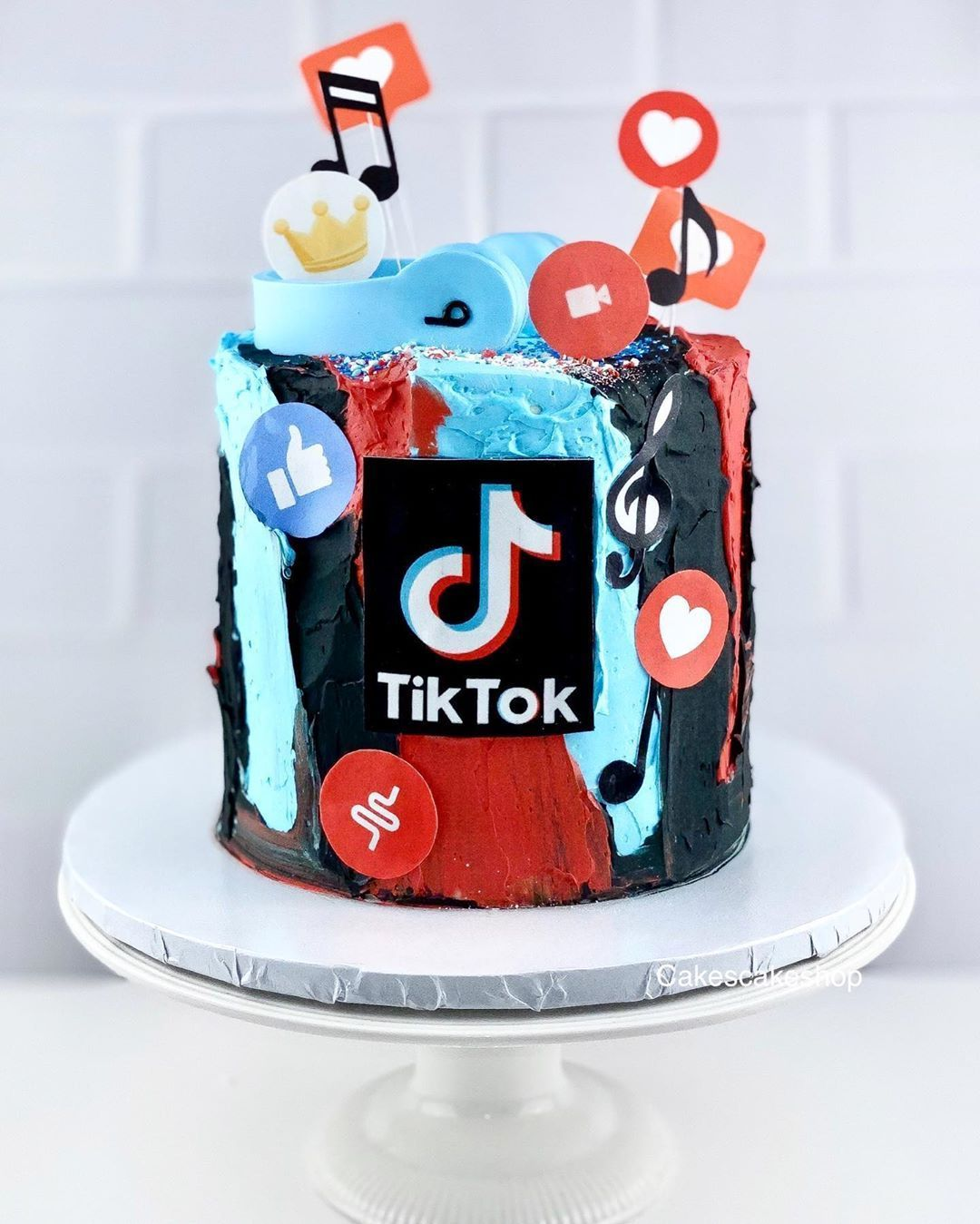 Pastel Tik Tok Cool Birthday Cakes Baby First Birthday Cake Unicorn Birthday Cake