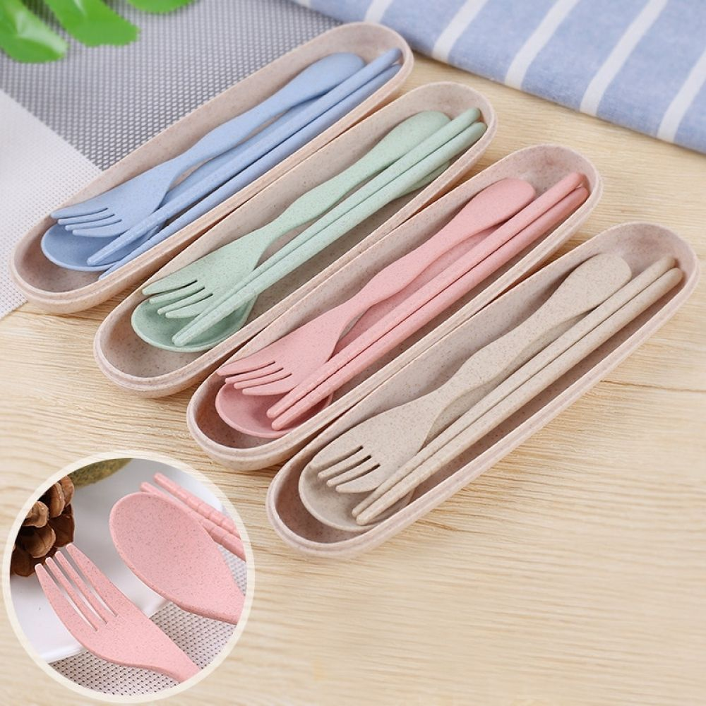Practical Portable EcoFriendly Degradable Cutlery Set Price  650  FREE Shipping