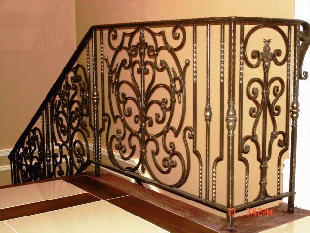 Best Bronze Interior Staircase Railing Wrought Iron Railings 400 x 300