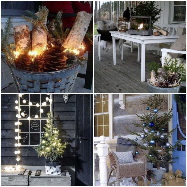 Habiller Et Quiper Sa Terrasse Pour L 39 Hiver Holiday Time And Christmas Time: decoration jardin exterieur