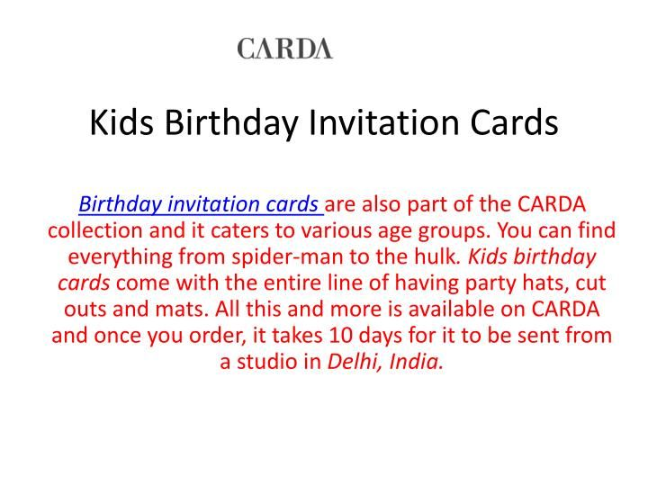 If You Want Birthday Cards Delivered To Your Doorstep CARDA Provides Door Step Facility