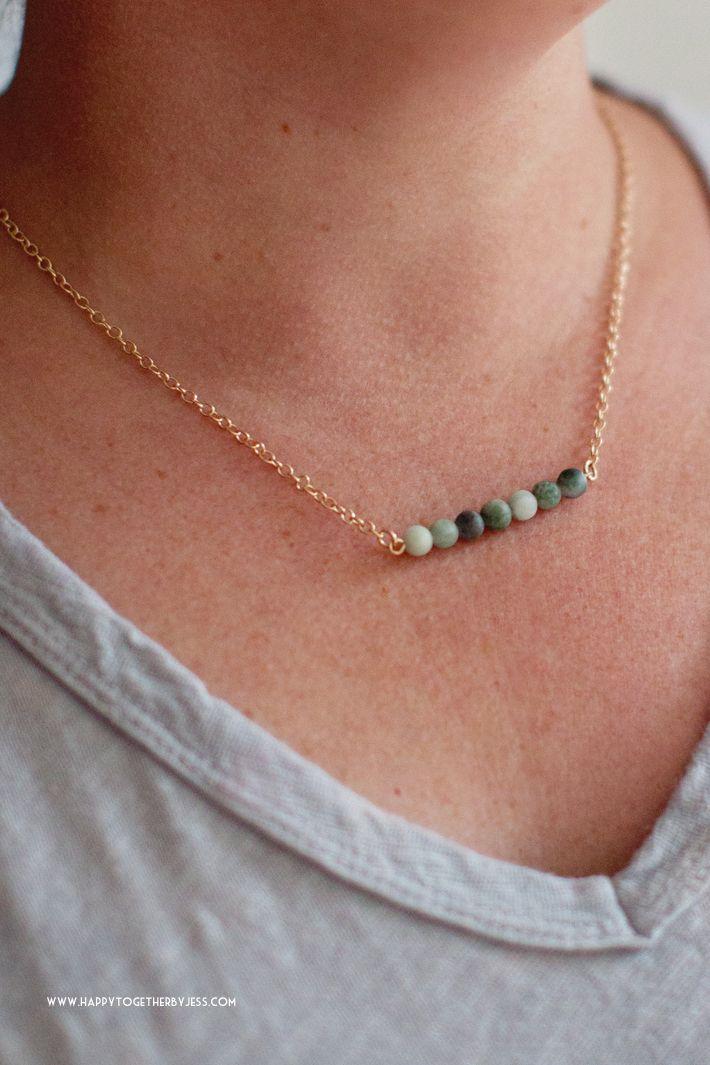 Photo of Bead Bar Necklace DIY