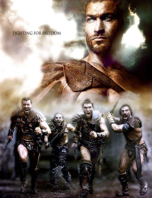 Fighting For Freedom Agron Gannicus Spartacus Crixus And Andy