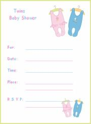 image regarding Free Printable Twin Baby Shower Invitations called Cost-free Printable Twins Boy or girl Shower Invites and Templates