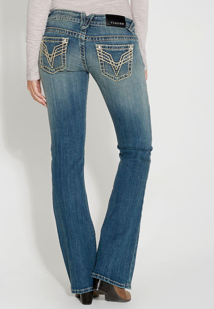 c93170de417 vigoss ® bootcut jeans in medium wash -  maurices