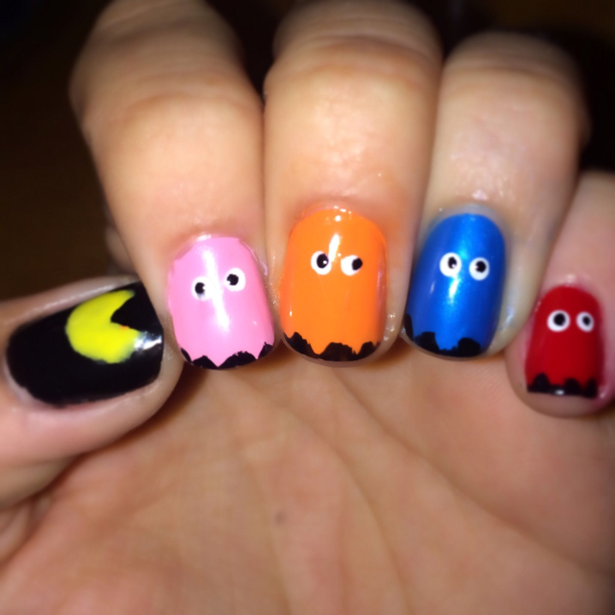 DIY manicure. Pac man nail art for perfectly fun, cute, and nerdy ...