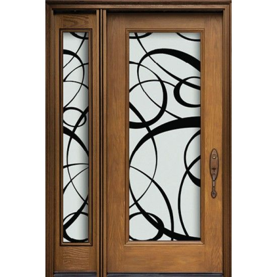 Single Entry Door One Panel Glass Sidleight Full Size Paris