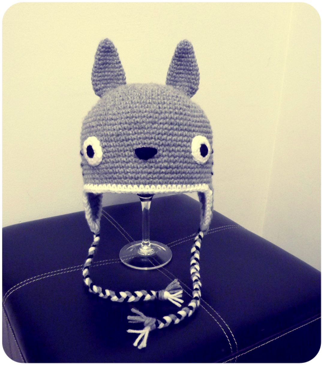 Totoro hat!! :D Gorro de Totoro!! :D #crochet #amigurumi   gorritos ...